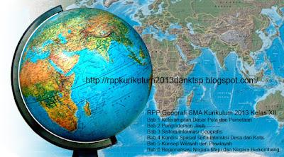 Download RPP Geografi SMA Kurikulum 2013 Kelas XII