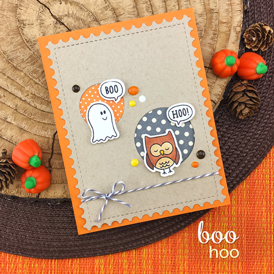 Boo Hoo Card by Jennifer Jackson | Boo Hoo Stamp Set by Newton's Nook Designs #newtonsnook #handmade #halloween