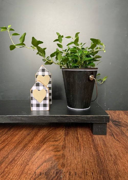 How to make Risers |  use scrap wood to make risers to display plants, home decor or for your table  |  She's Crafty