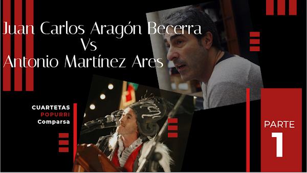 Juan Carlos Aragón Vs Antonio Martinez Ares. Duelo de Popurris con Letra Parte 1