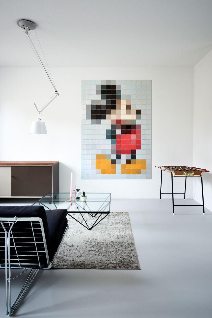 Dekoracja na ścianę z myszką miki