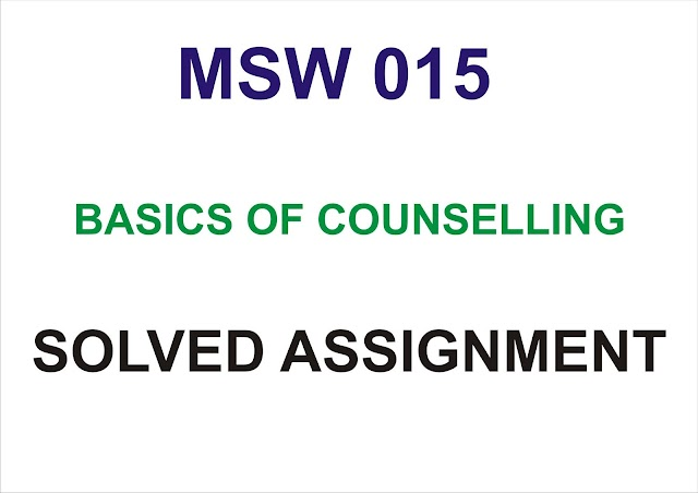 MSW 015 Solved Assignment