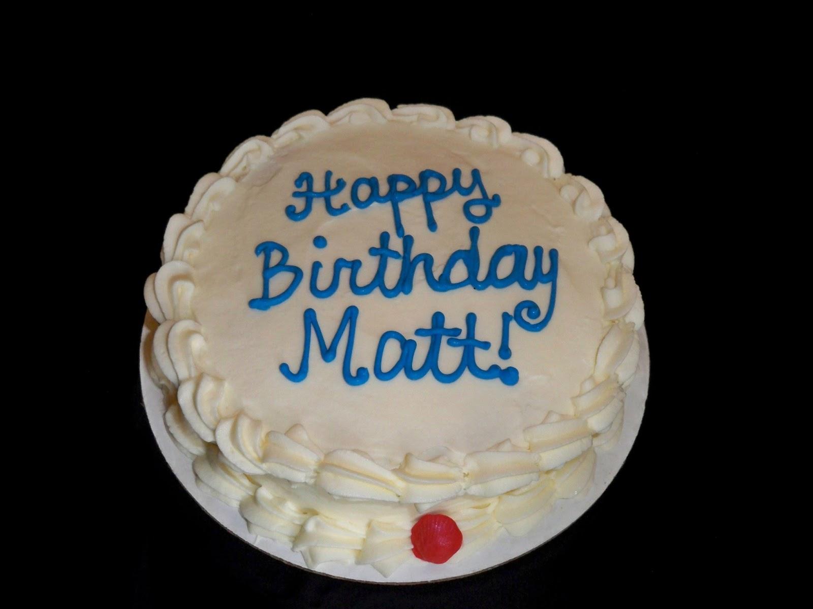 Happy Birthday Matt Cake Images