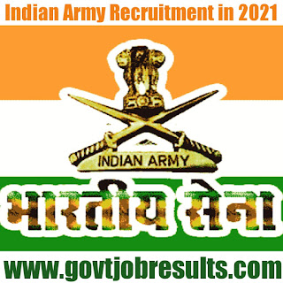 Indian Army Soldier Clerk and Store Keeper Technical Recruitment Notification 2021