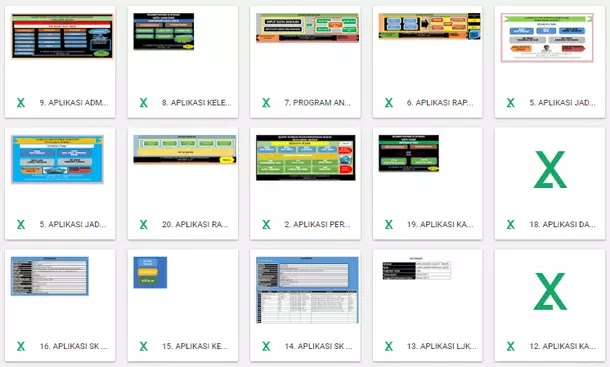 Kumpulan Aplikasi untuk Administrasi Sekolah dan Guru Format Microsoft Excel