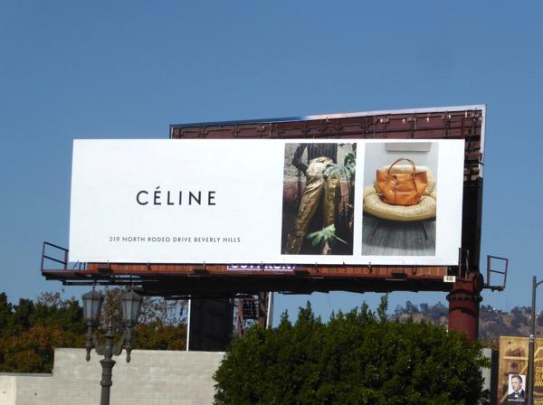 Celiné Holidays 2017 fashion billboard