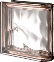 Brique de finition simple Rose métallisé