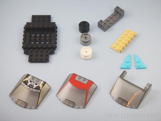 LEGO Lot of 2 Dark Bluish Gray 1x2-2x4 Space Car Vehicle Bracket Pieces