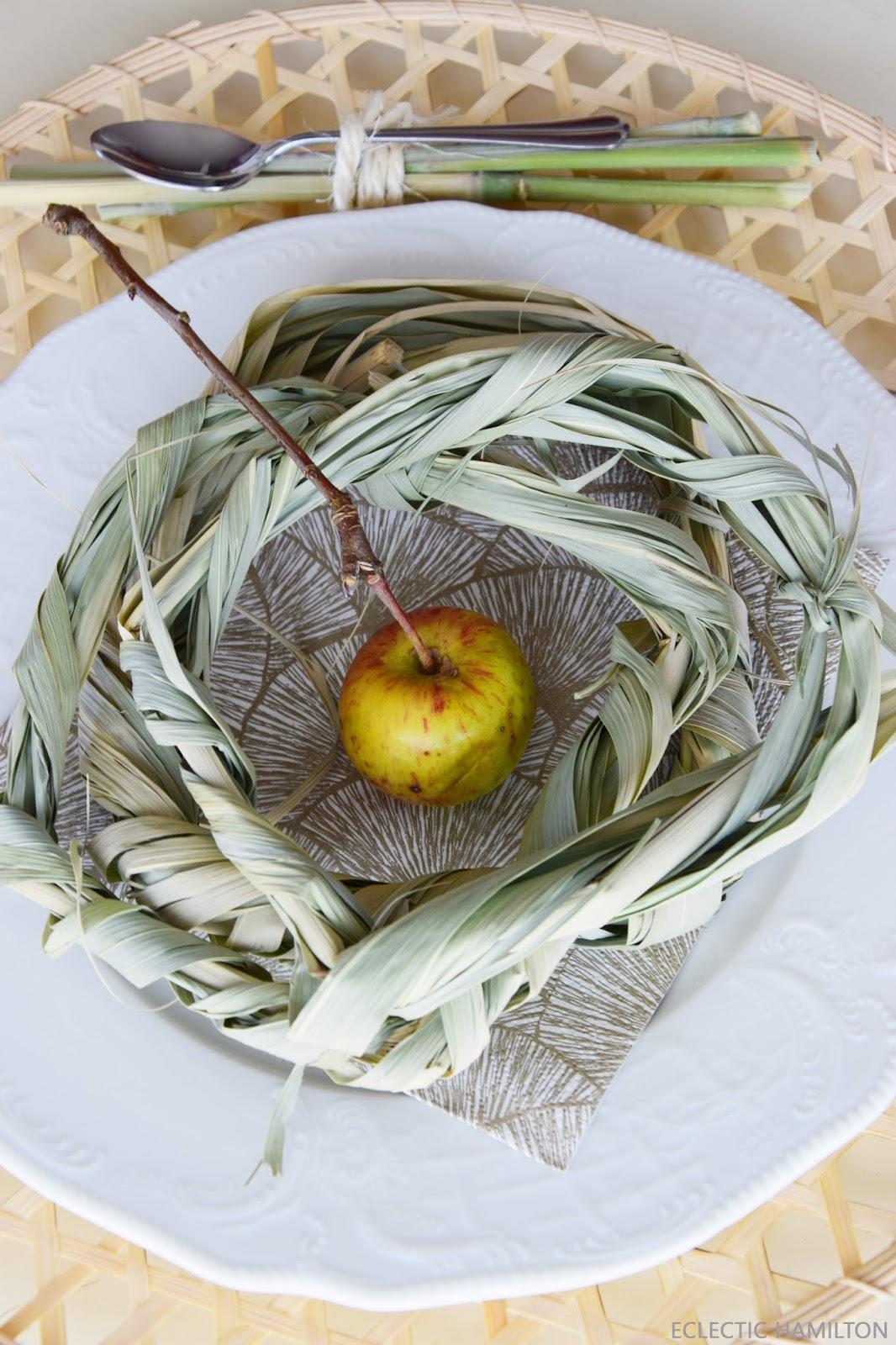 Kreativ mit Schilfgras: Deko für die Türe und den Tisch, DIY, Gras, Pampasgras