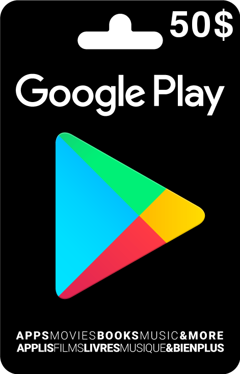 Buy 50$ Google Play Gift Card شراء بطاقة غوغل بلاي 50$