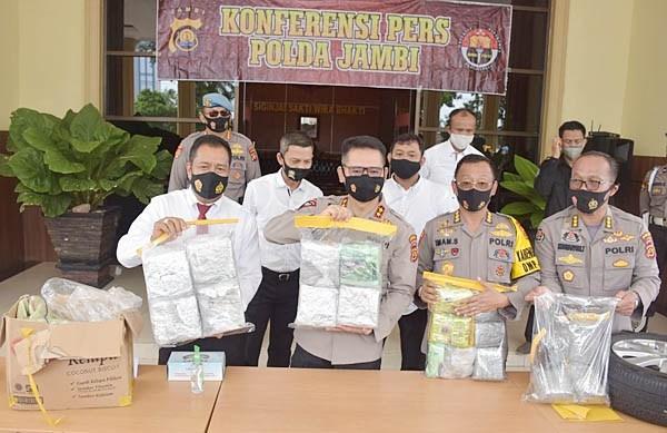 polda jambi amankan sabu 19,4 kg jaringan malaysia
