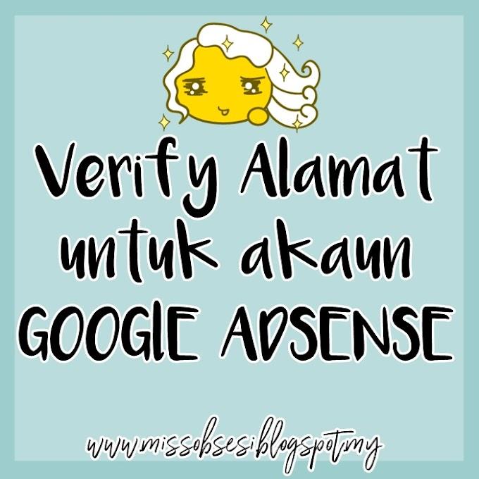 Berjaya Verify Alamat untuk Akaun Google Adsense