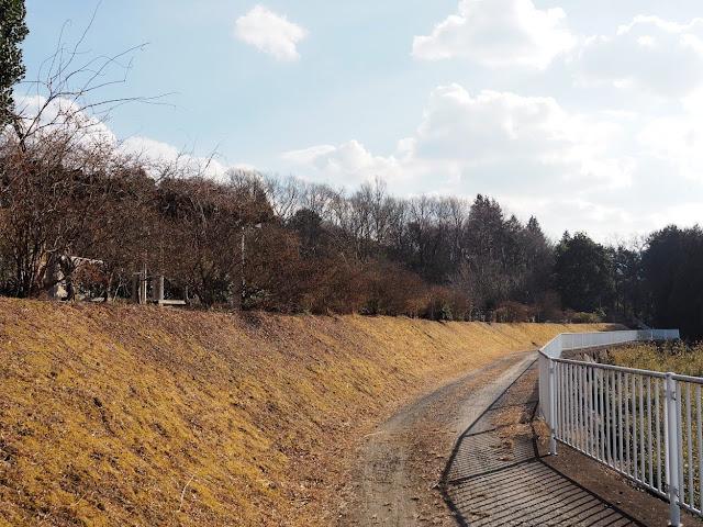 恋瀬川サイクリングコース 八郷水処理センター前