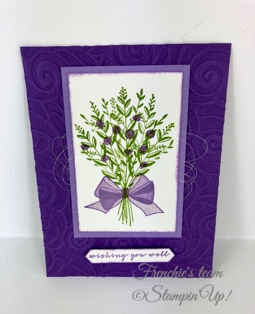 Card, Wishing You Well, Swirls & Curls Impressions Embossing Folder, Metallic Thread