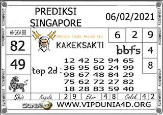 Prediksi Togel SINGAPORE DUNIA4D 06 FEBRUARI 2021
