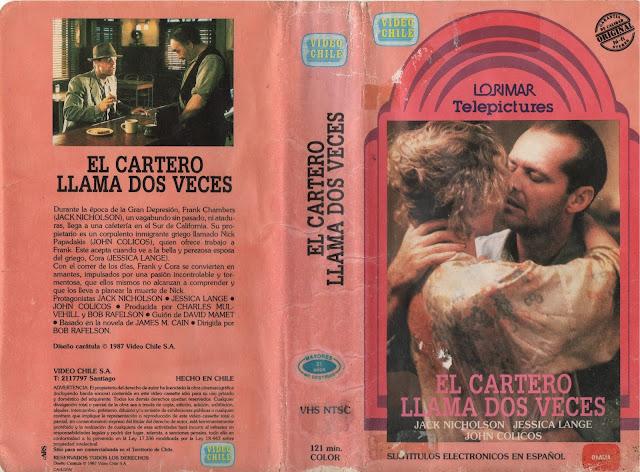 """Pelicula """"El Cartero llama Dos Veces"""" (1981)"""