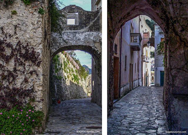 Ruas medievais de Ravello, Costa Amalfitana