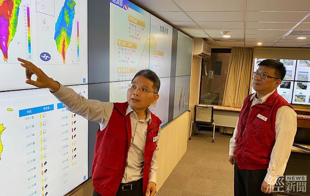 經濟部曾文生次長坐鎮水災緊急應變小組指揮