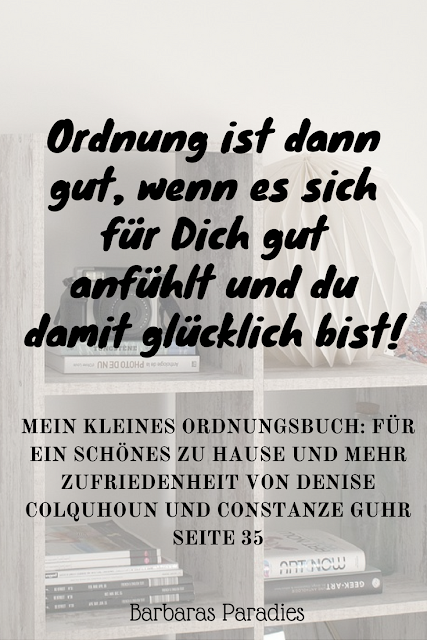 Buchrezension #190 Mein kleines Ordnungsbuch: Für ein schönes zu Hause und mehr Zufriedenheit von Denise Colquhoun und Constanze Guhr