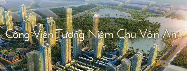 The manor central park nằm cạnh công viên Chu Văn An 100ha