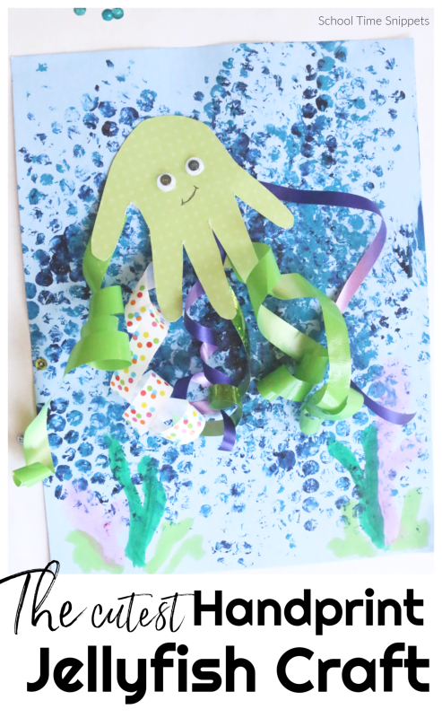 Jellyfish Handprint Craft For Kids School Time Snippets