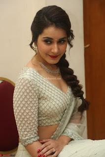 Raashi Khanan looks stunning in Crop Top Deep neck Choli Ghagra Transparent Chunni WOW ~  Exclusive Celebrities Galleries 022.JPG