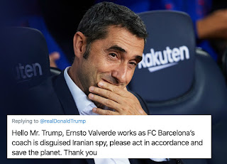 Hundreds of Barca fans urge Donald Trump