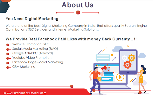 Digital Marketing Website Promotion - We Provide Real Facebook Paid Likes with money Back Guaranty