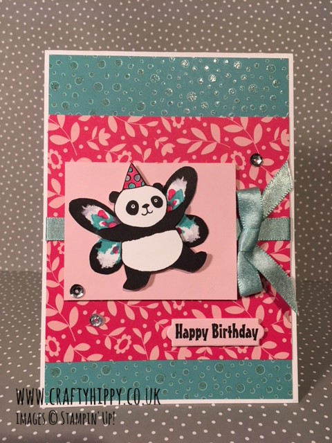 Have a go at making Panda Fairies with the Party Pandas stamp set from Stampin' Up! Use the wings from Watercolor Wings to add some pretty wings to your panda.