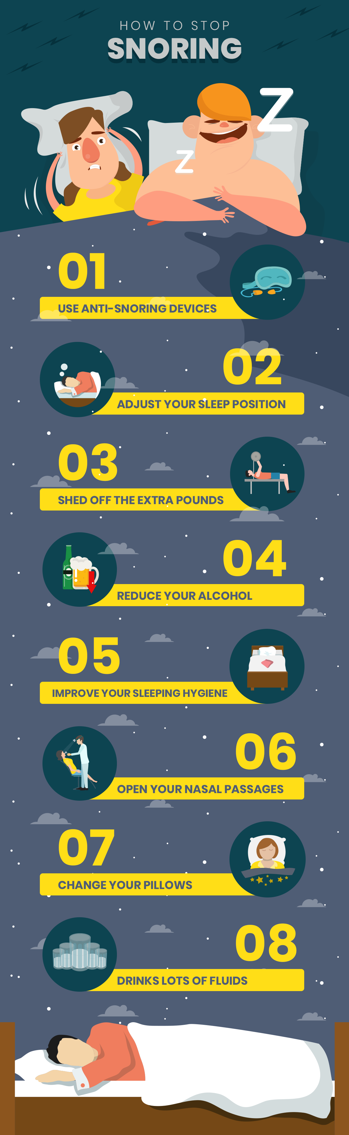 How to Stop Snoring #Infographic
