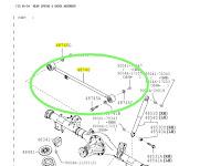 Harga Dan Fisik : Lateral Rod Belakang Avanza Rush 2016-2021 48740-BZ130