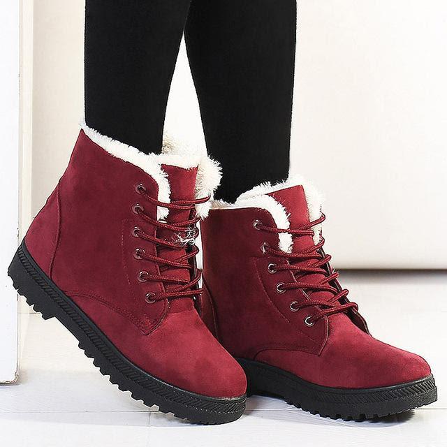 Women's Plush Fur Warm Winter Ankle Boots