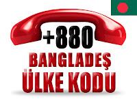 +880 Bangladeş ülke telefon kodu