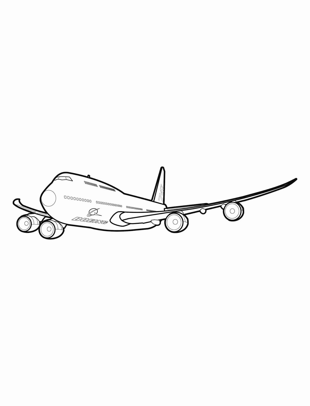 Sketsa Gambar Pesawat : sketsa, gambar, pesawat, Contoh, Gambar, Mewarnai, Pesawat, Boeing, KataUcap