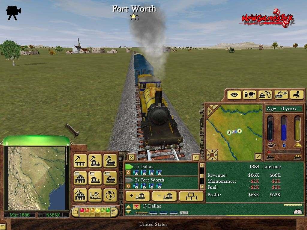railroad tycoon 3 – Zacov