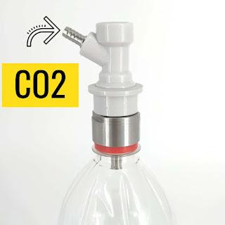 приспособление для газирования воды в бутылках, карбонизация кваса