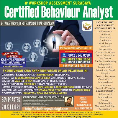 Workshop Psikologi Surabaya | Pelatihan Alat Tes Psikologi 2019 | WA: 0838-7186-6778