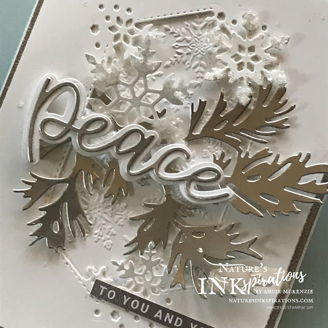 By Angie McKenzie for JOSTTT024 Design Team Inspirations; Click READ or VISIT to go to my blog for details! Featuring the Peace & Joy Bundle and So Many Snowflakes Dies from the August-December 2020 Mini Catalog along with the Beautiful Boughs Dies from the 2020-21 Annual Catalog; #cardchallenges #handmadecards #josdesignteaminspiration #josttt024 #decembercardchallenge #snowflakes #boughs #christmascards #peaceandjoystampset #peaceandjoybundle #somanysnowflakesdies #beautifulboughsdies #wintersnowembossingfolder #cardtechniques #craftwithpurpose #christmas