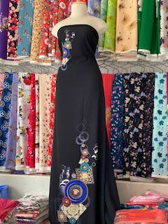 Vải Lụa Bảo Anh - msp aodailua001