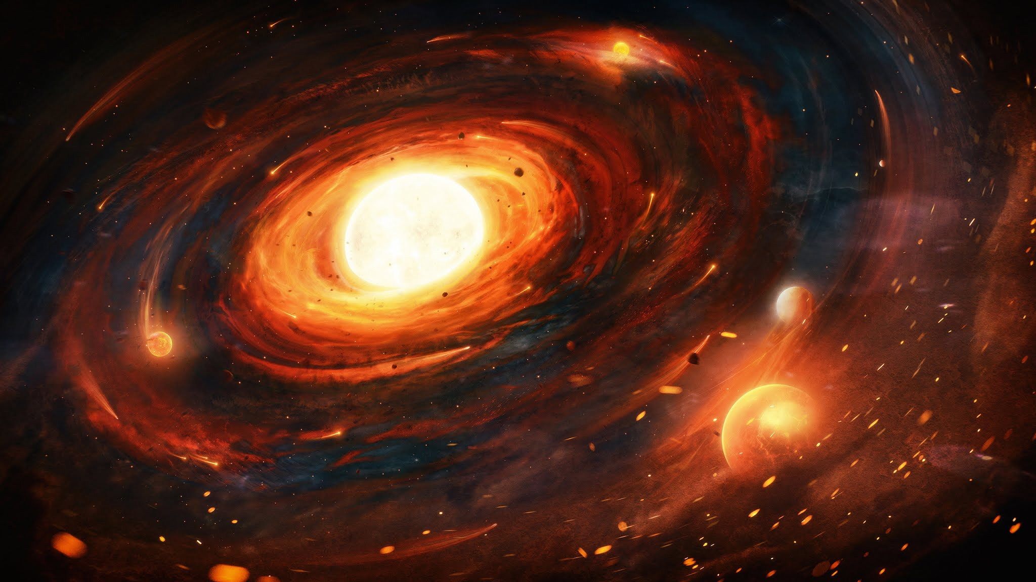 Wallpaper Galaxy Universe Black Hole