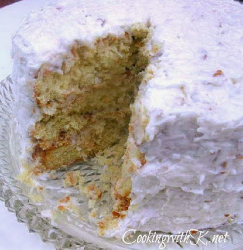 Cooking With K Italian Cream Coconut Cake