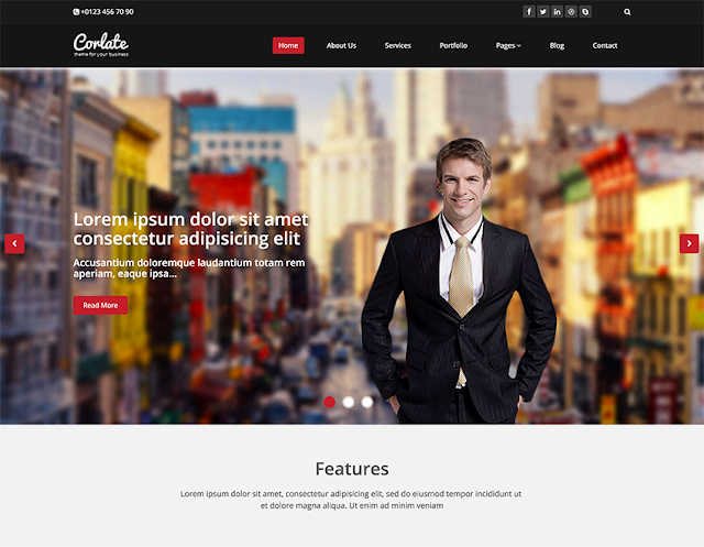 Corlate free responsive business html template templates store corlate free responsive business html template wajeb Images