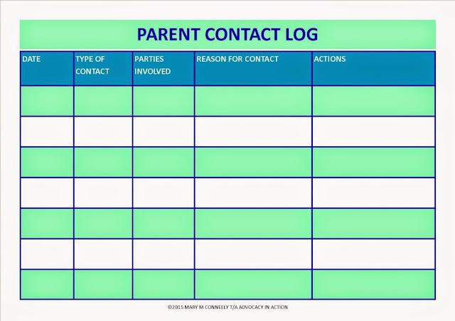 parent contact form for teachers pdf