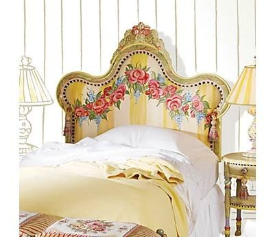 Hydrangea hill cottage beautiful painted headboards for Painted headboard