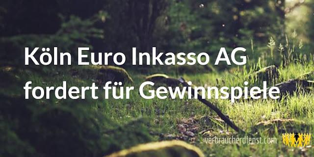 Beitrag: Köln Euro Inkasso AG fordert für Gewinnspiele