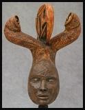 Figure humaine buste cuivre