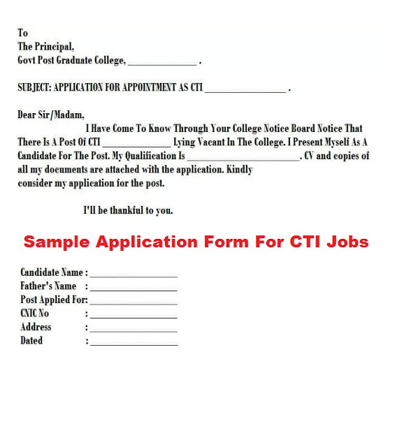 CTI jobs 2019-2020 in Colleges of Gujranwala – 629 Vacancies for Male & Female