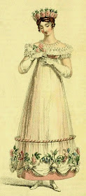 Evening dress  from Ackermann's Repository (May 1817)