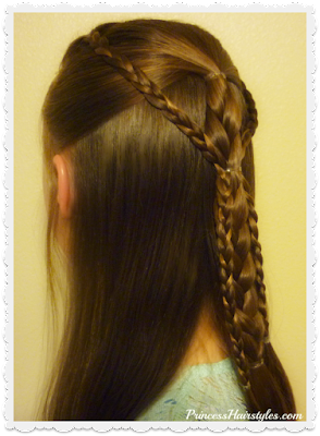 Cute and easy half up braided hairstyle tutorial.