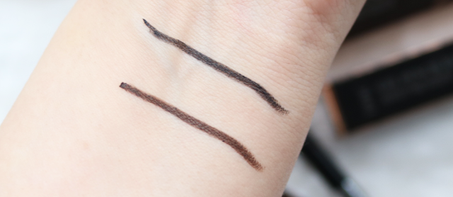 DHC Gel Pencil Eyeliners EX in Black & Brown swatches
